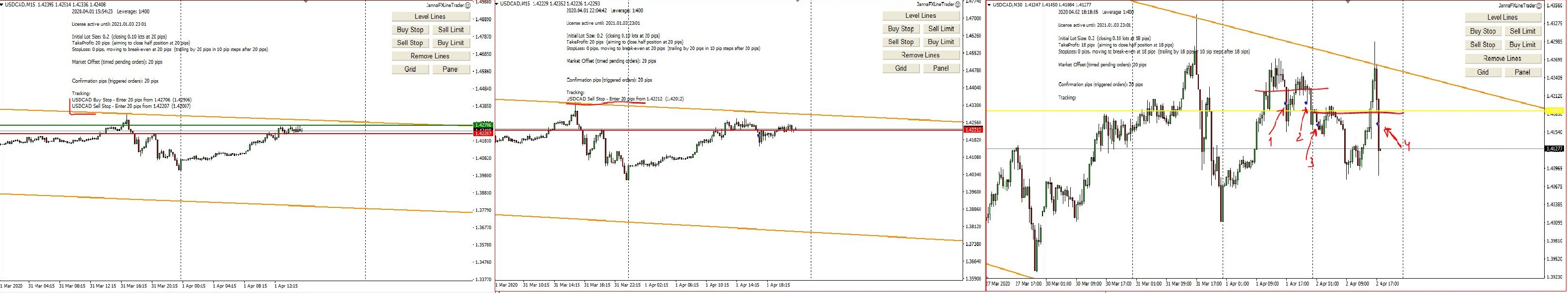 2 Days of Forex Trading, Examples of My Trades