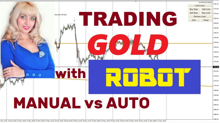 Gold Trading with Robot, Full Auto Result with JannaFX LineTrader